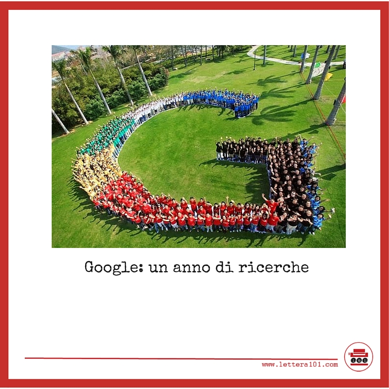 Google un anno di ricerche