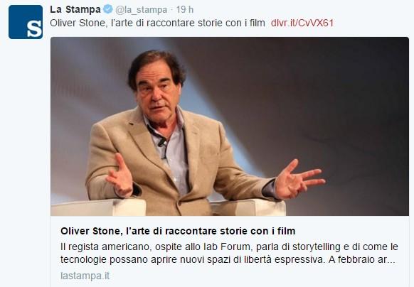 Oliver Stone a IAB Forum