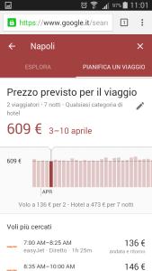 Google destinations - Pianifica viaggio