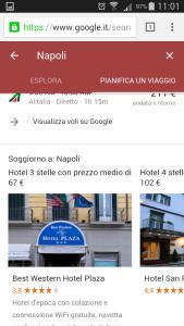 Google destinations - scegli hotel