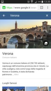 Google destinations - Verona