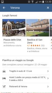 Google destinations - Luoghi di interesse