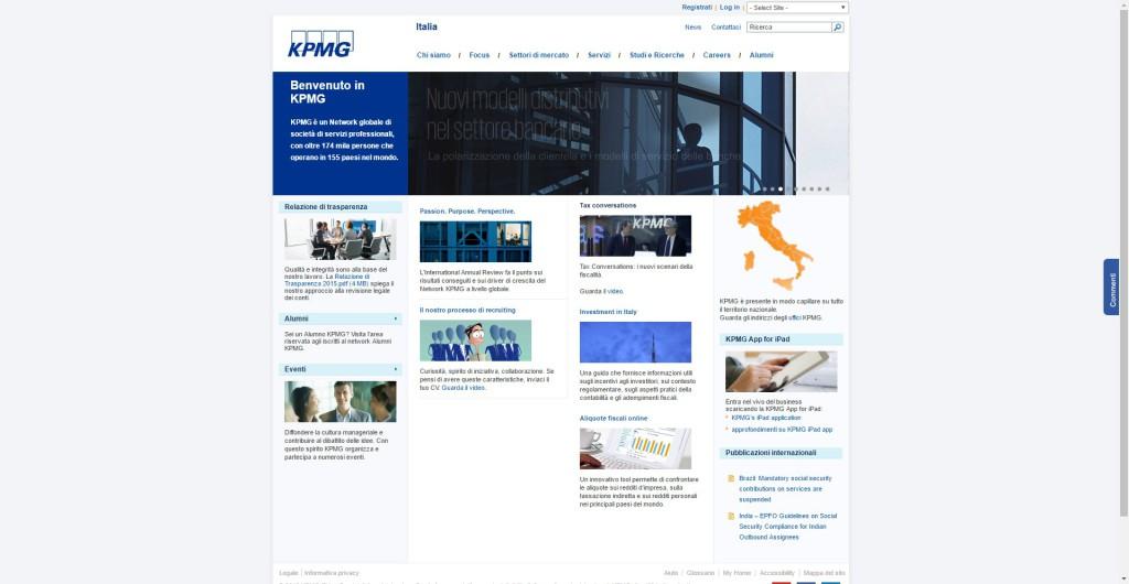 KPMG Home page