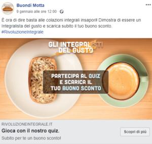 Buondì Motta pubblicità su Facebook